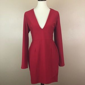 Missguided Red Ponte Sheath Dress size 12